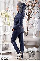 Спортивный женский костюм на синтепоне(42-46р), доставка по Украине