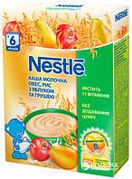 Каша молочная Nestle овес,рис с яблоком, грушей и  бифидобактериями