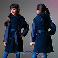 Детское кашемировое пальто для девочки Косушка-капюшон