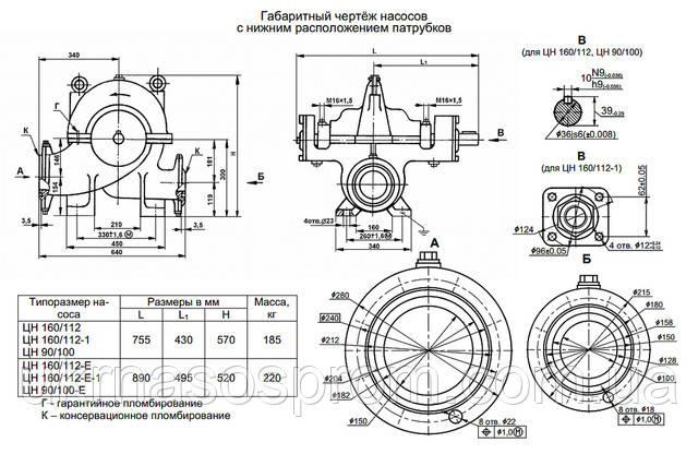 насос ЦН 90/100 насос ЦН 90/100 цена производитель чертеж