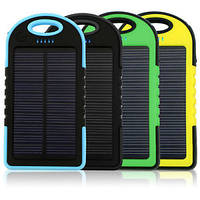 Solar charger Power Bank черный