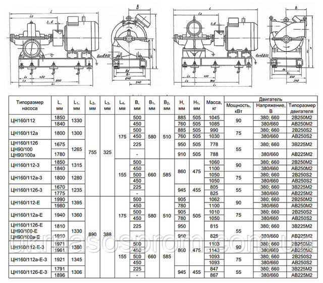насос ЦН 90/100-с  насос ЦН 90/100 цена производитель чертеж
