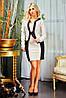 Пиджак из мягкого замша и платье