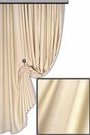 Ткань для штор софт    (велюр) №67 H молочный ,  Турция,  высота  2.8 м