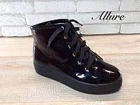 Ботинки демисезонные лаковая кожа AL0028