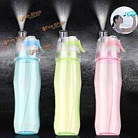 700мл спрей бутылку воды чайник спорт работает питьевой чашки бутылки путешествия BPA бесплатно