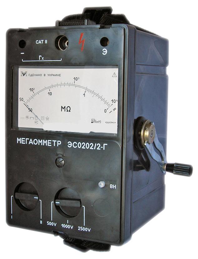Мегаомметр эс0202 2г инструкция