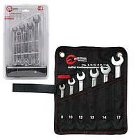 Набор ключей рожково-накидных, 6 предметов, 8-17 мм Intertool
