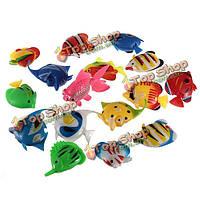Поддельные рыбы рыбы танк украшения пластиковые искусственные тропические рыбы