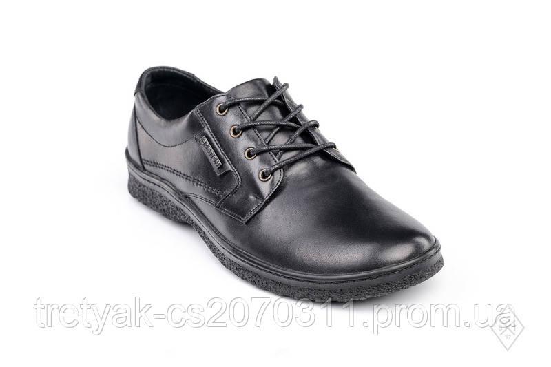 e163313dc959 Мужские повседневные кожаные туфли чёрного цвета