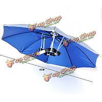 Ветрозащитной летняя рыбалка кемпинг туризм складная солнечный зонт головной убор
