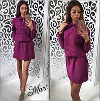 Платье с утяжкой на талии и рубашечным воротником разные цвета 2SMmil598