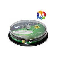 DVD+RW диск Hewlett-Packard 4,7 GB 4x Cake box 10