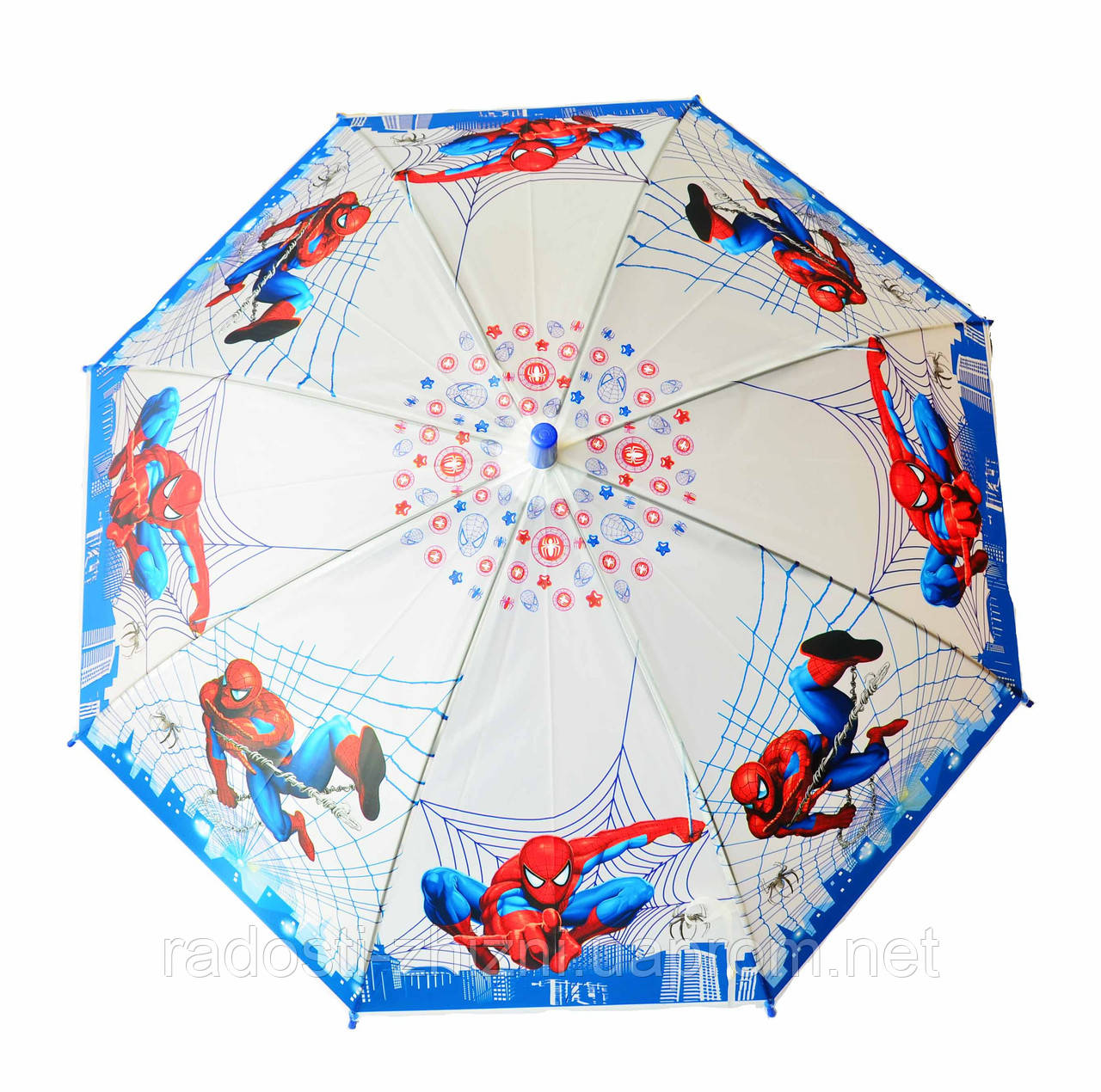 Зонт детский трость полуавтомат Spider man