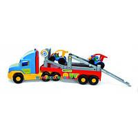 Эвакуатор Super Truck с легковым авто Wader 36630