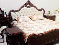 Кровать с мягким изголовьем Ludovic / Людовик натуральное дерево AMD 180х200