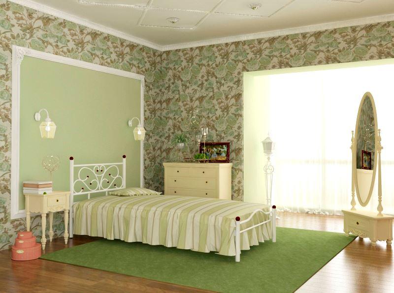 Кровать односпальная металлическая Эрика - Матрас Диван - мебельный интернет магазин в Киеве