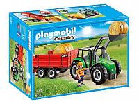 Конструктор Playmobil 6130 Трактор с прицепом, фото 1