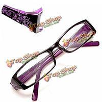 Фиолетовый женский алмазный цветок кадр дальнозоркостью очки для чтения очки 1.0 1.5 2.0 2.5 3.0 3.5