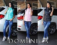 Демисезонная женская жилетка в расцветках x-311434