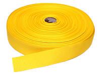 Репсовая лента, ширина 2,5 см, 1 м, цвет светло-желтая