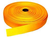 Репсовая лента, ширина 2,5 см, 1 м, цвет темно-желтая