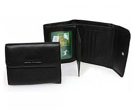 Компактный женский кошелек-портмоне черного цвета Marco Coverna, натуральная кожа. (213B-1)