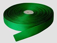 Репсовая лента, ширина 2,5 см, 1 м, цвет зеленый