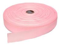 Репсовая лента, ширина 2,5 см, 1 м, цвет розовый
