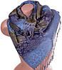 Замечательный женский двусторонний палантин из пашмины 173 на 70 см ETERNO ES2707-9-2 голубой
