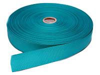Репсовая лента, ширина 1,2 см, 1 м, цвет темно-бирюзовый