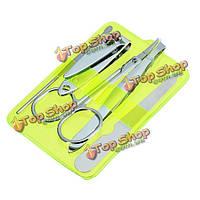 5шт ногтей маникюр педикюр набор Ножницы Пинцет для бровей уха подборщики инструментов
