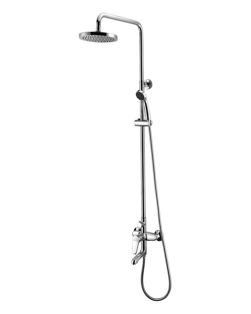 Система душевая (смеситель для ванны, верхний и ручной душ) IMPRESE WITOW (T-10080)