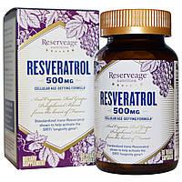 Ресвератрол, 500 мг, ReserveAge Nutrition, 60 вегетарианских капсул. Сделано в США.