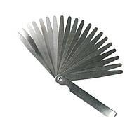 Набор щупов для измерения зазоров 0.05-1 мм, L-100 мм, 20 предметов Intertool