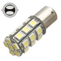Светодиодная лампа цоколь T25,  P21/5W (1157 BAY15d) 27-SMD 5050, 400Lm, 12В? Код:341532375