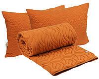 Комплект силиконовое двуспальное евро одеяло с подушками