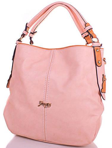Оригинальная женская сумка из кожезаменителя GUSSACI (ГУССАЧИ) TUGUS13J031-2-13 (бежевый)