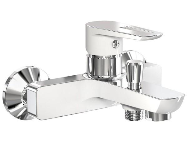 Смеситель для ванны, хром/белый, 35 мм IMPRESE BRECLAV (10245W)
