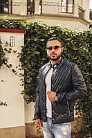 Мужская куртка из качественного кожзама на синтепоне