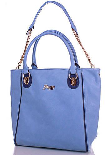Современная женская сумка GUSSACI (ГУССАЧИ) TUGUSB13-0095-5 (голубой)