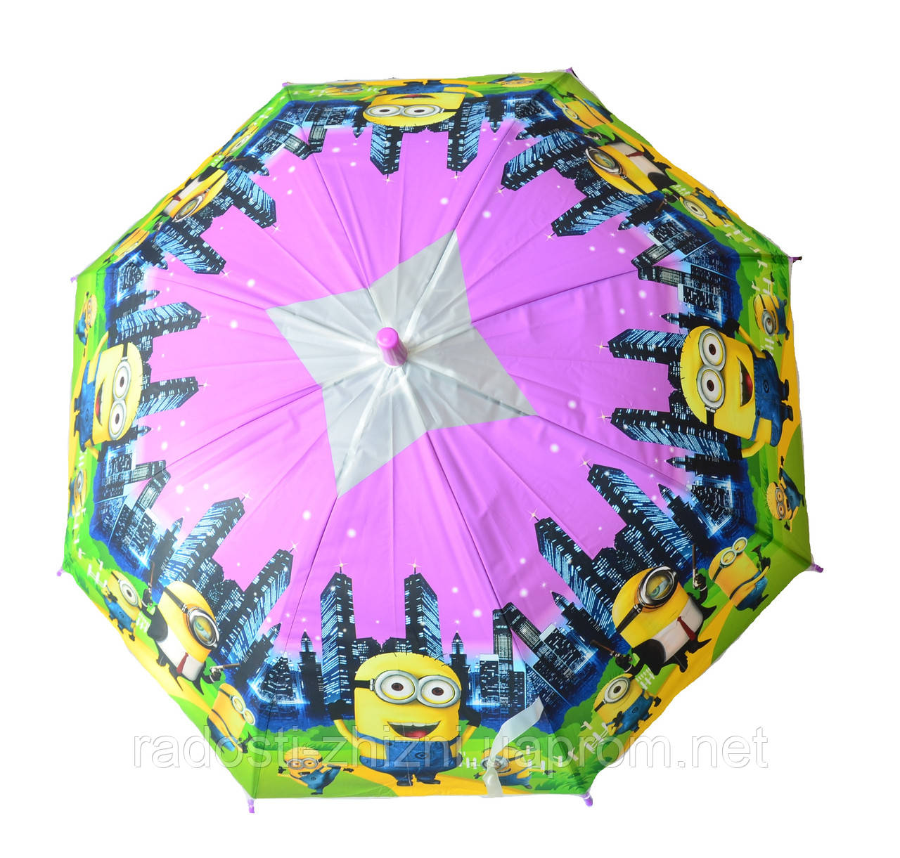 """Зонт детский трость полуавтомат """"Миньены"""""""
