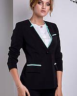Черный женский пиджак   Монреаль lzn