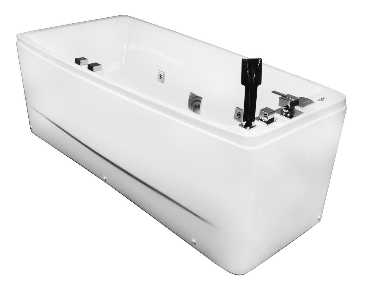 Ванна асимметричная гидромассажная левая, акриловая VOLLE (12-88-102/L)