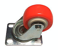 Колесо оранжевое поворотное д50 на подшипниках