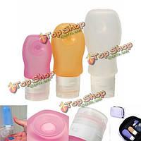 Путешествия портативный силиконовый шампунь крем лосьон всасывания контейнер бутылки