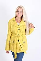 Желтый плащ красивого кроя, фото 1