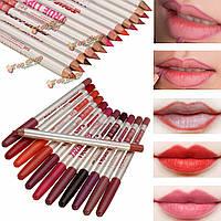 12 цветов водонепроницаемый подводка для глаз карандаш для губ карандаш ручка косметический набор для макияжа комплект