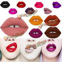 12 цветов вампира бархат матовая жидкость макияж помада блеск для губ увлажняющий крем длительный водонепроницаемый
