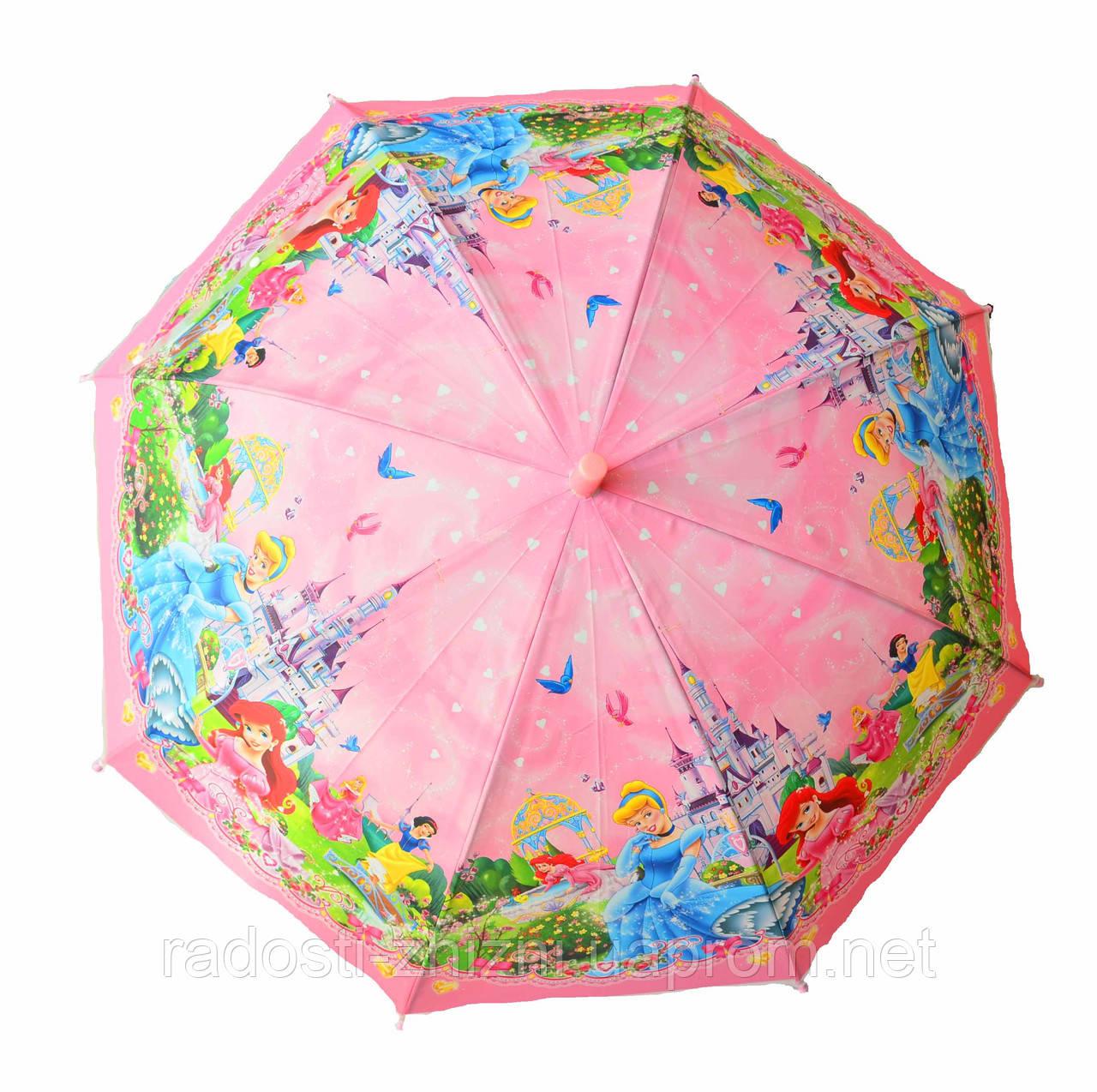 """Зонт детский трость полуавтомат """"Принцессы"""""""
